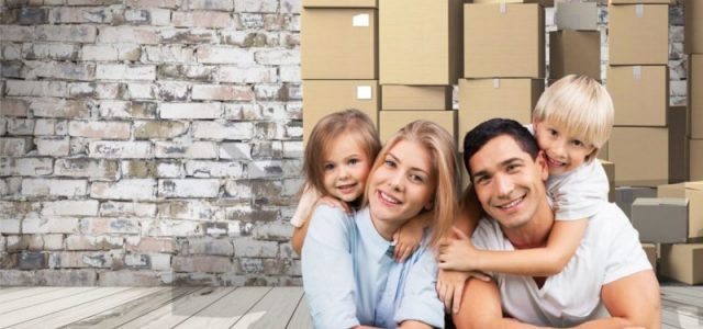 43292816 - family, moving, house.